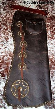 Old West Batwing Leather Chaps