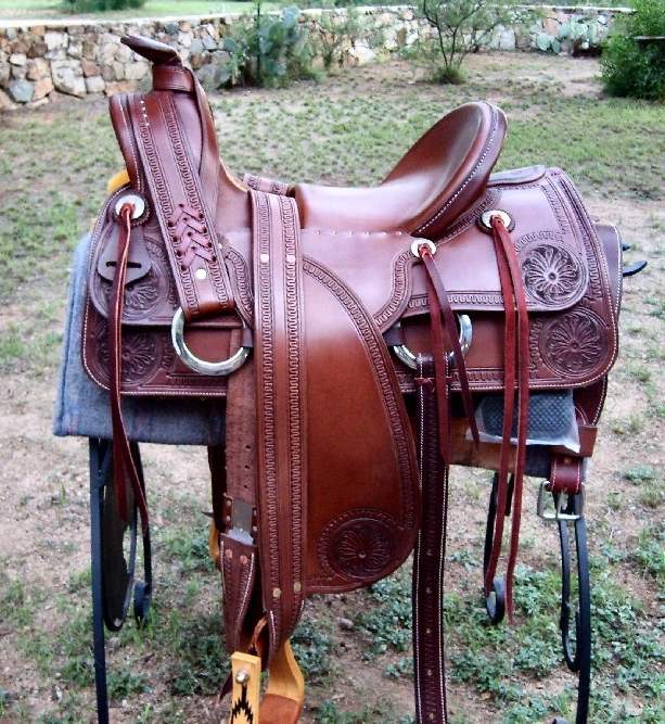 Old Style Half Seat Saddle - Custom Saddle made by Cochise Leather Co.
