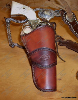 The Duke Holster - Shown Plain - Border Tooling is available