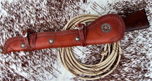 Border Tooled US Marshall Rifle Scabbard