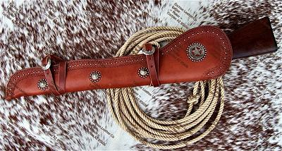 US Marshall Rifle Scabbard with Border Tooling