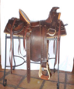 1800's Style Half-Seat Saddle w/Means-style Tree