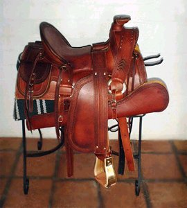1800's Half-Seat Western Style Saddle