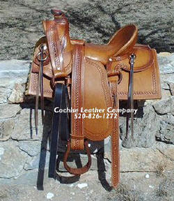1800's Style Half-Seat Western Saddle