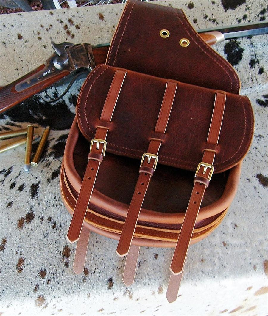 Cavalry Style Custom Leather Saddlebags