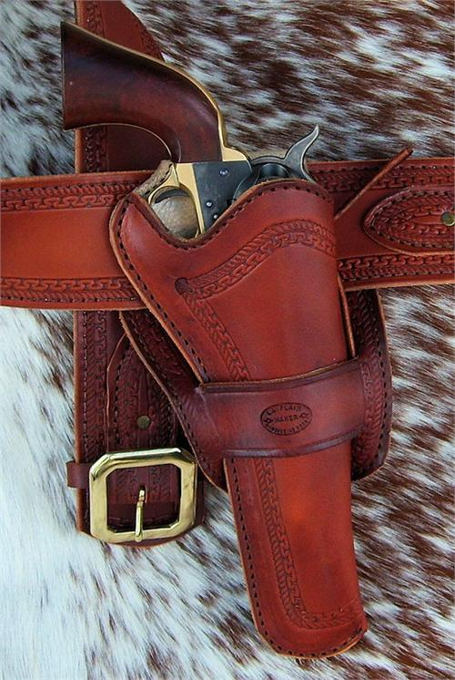 Texas Ranger custom leather western gun holster