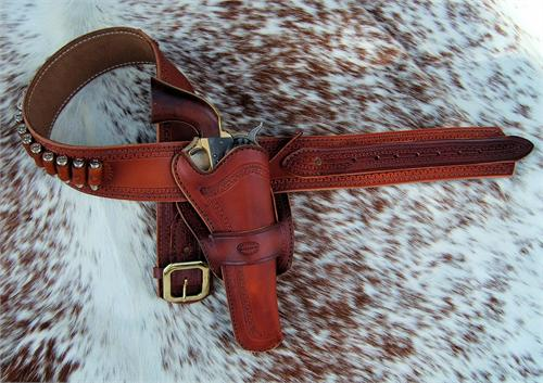 Western Leather Gunbelt