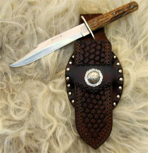 Collectable Sheffield Vintage Bowie Knife with German Silver Hilt