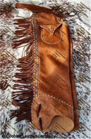 Old Time Shotgun Leather Chaps