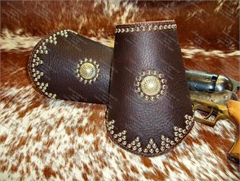 Western Leather Cuffs - Cowboy Cuffs