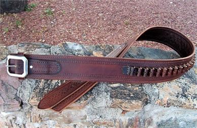 Classic western gunbelt made ot order in the USA. Worldwide shipping.