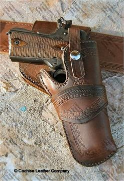 Custom Colt 1911 Crossdraw Holster By Cochise Leather Co