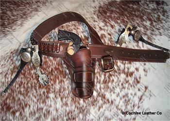 The Drifter classically styled western holster with gunbelt