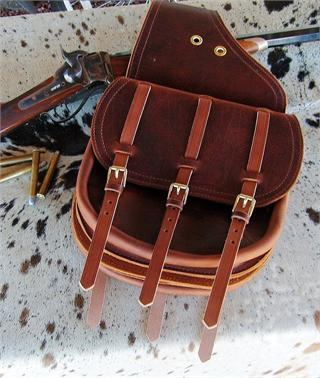 Calvary Style Saddlebags - Classic styling with three straps