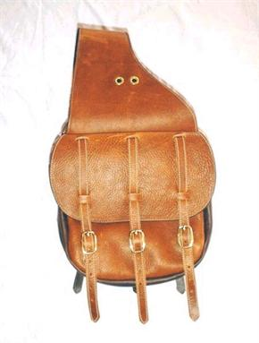 Saddle bags are custom made to order in the classic Calvary style. Top grade leather and hardware, handmade by Cochies Leather.