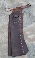 Shotgun Chaps on leather history page