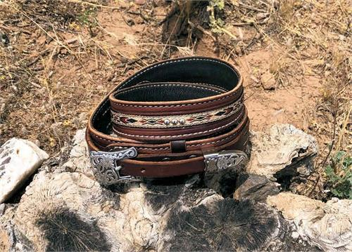 Western leather ranger belt made in USA