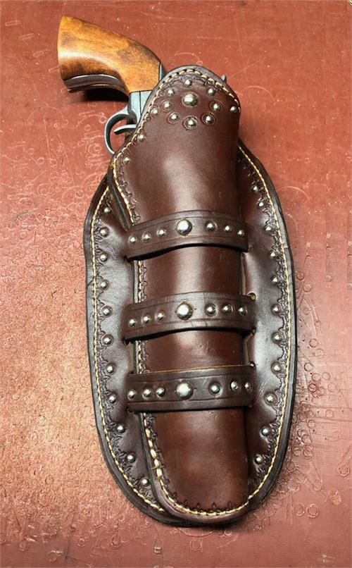 Colorado western gun holster fits most single and double action revolvers. Custom made to order in US