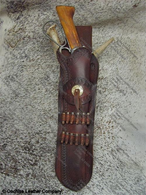 Mare's Leg Western Leather Gun Holster with Bullet Loops