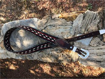 Braided horsehair belt handmade in USA by Cochise Leather Co.