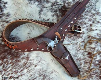 The Cattleman Buscadero gun rig, made by Cochise Leather Co in the USA