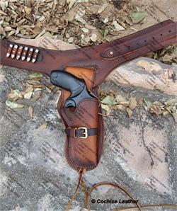 Custom Western Buscadero gun rig made by Cochise Leather Co in Cochise, AZ