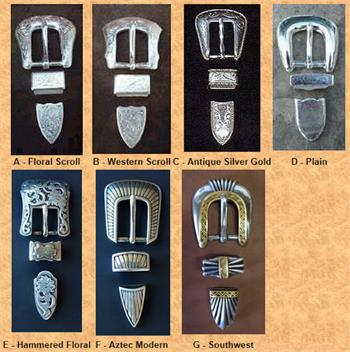 Choice of 7 buckles for Ranger Belts