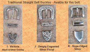 Choice of 3 buckles for specific western ranger belts